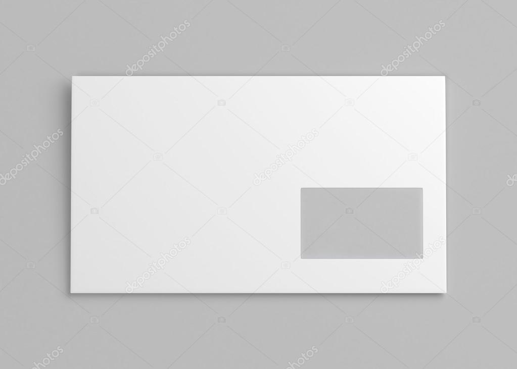 Blanc Enveloppe Blanche Avec Fenêtre Image De Rendu 3d