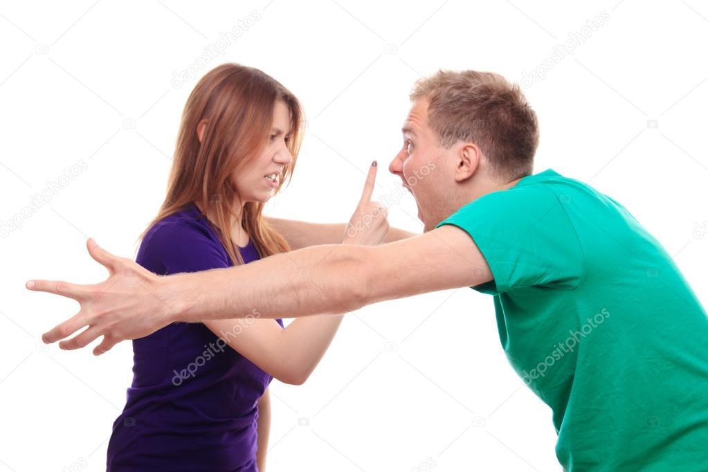 Freund und Freundin streiten — Stockfoto © MichalLudwiczak