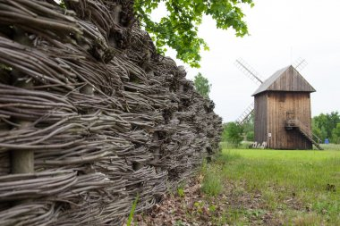 village fence and mill