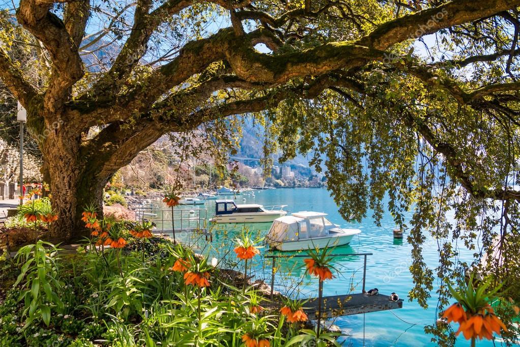 Montreux Riviera of Lake Geneva