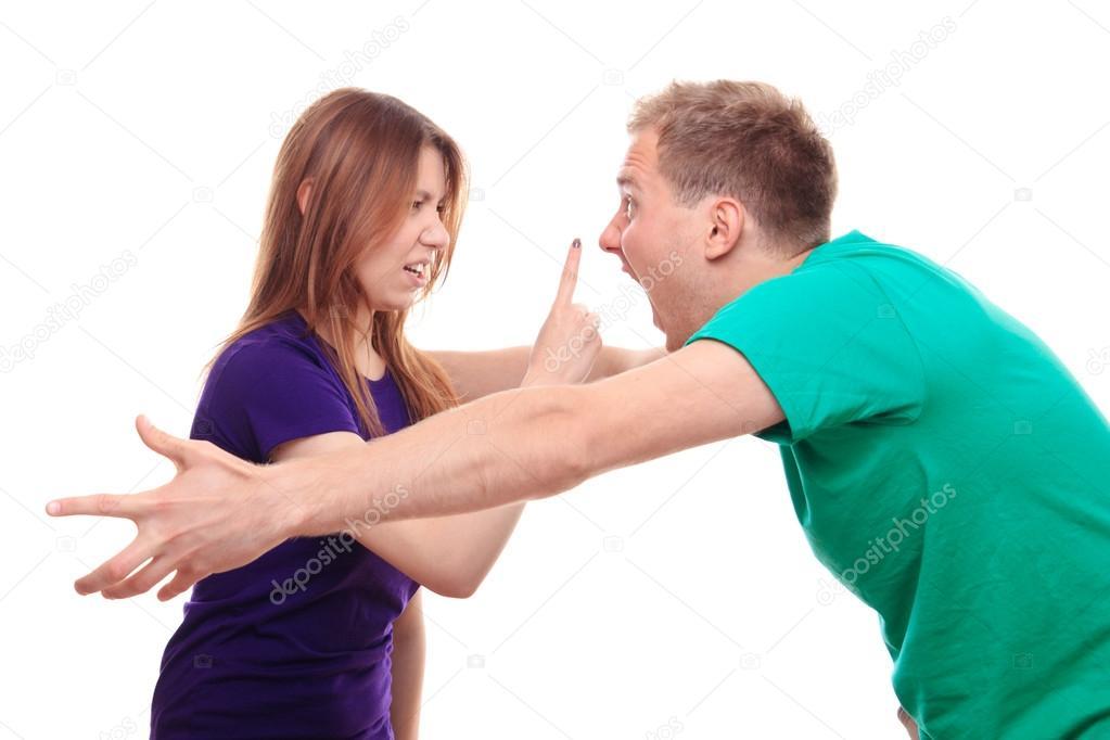 Freund und Freundin streiten