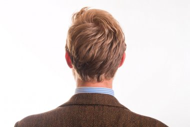 Back of the head and the hair of a young man