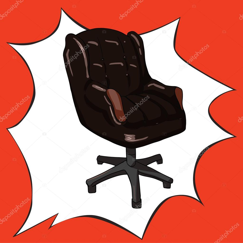 Bürostuhl comic  Pop-Art-Büro-comic-Stil-Vektor Illustration — Stockvektor © manjuna ...