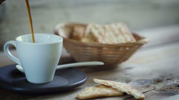 Kávé, pour, reggeli