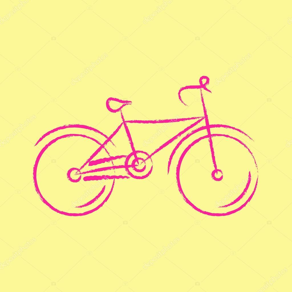 Bicicletta Stilizzata Illustrazione Vettoriale Vettoriali Stock