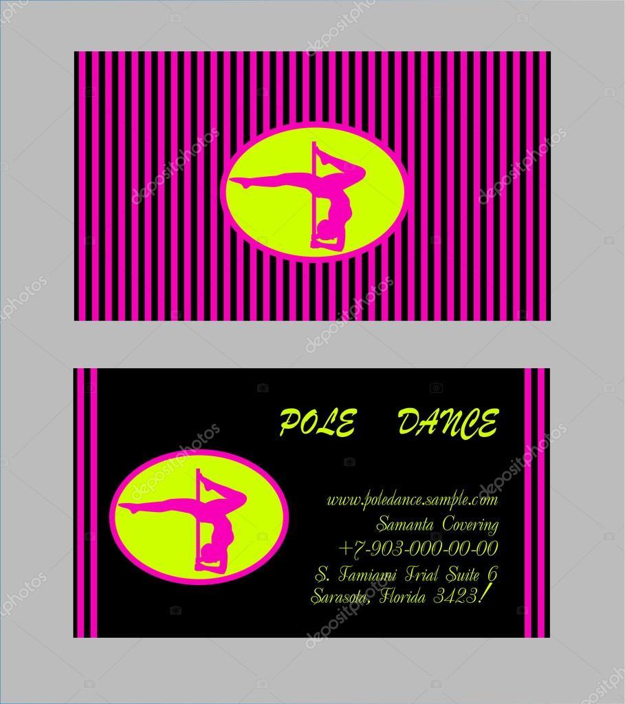 Plantillas de Pole Dance. Ilustración Flyer y Vector de tarjeta de ...