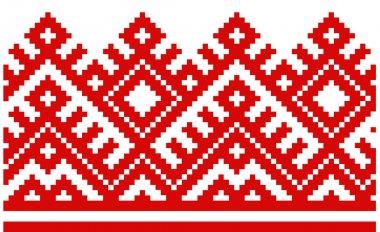 ornament embroidered good like handmade cross-stitch ethnic Ukraine pattern