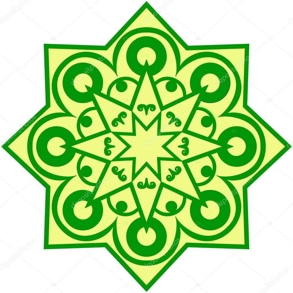 Green ethnic ornament background