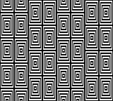 Abstract Square Bases Black and White Seamless Pattern, Vector Illustration. Motion Illusion Appear.