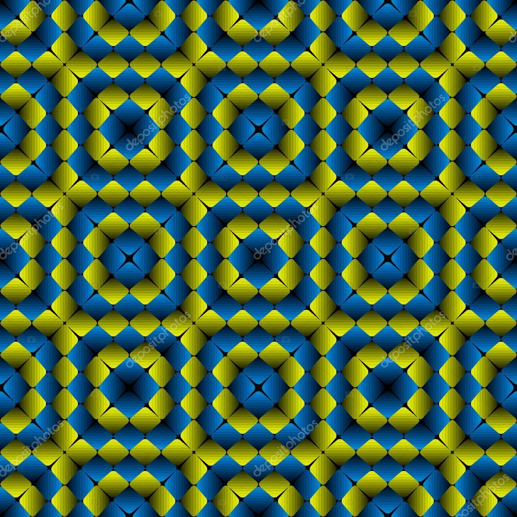 63b2a6473 Bojo a ilusão óptica de losangos Seamless Pattern Vector — Vetor de Stock