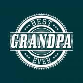bester Opa aller Zeiten T-Shirt Typografie, Vektorillustration