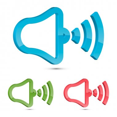 Stylized Speaker Icon, Vector Illustration