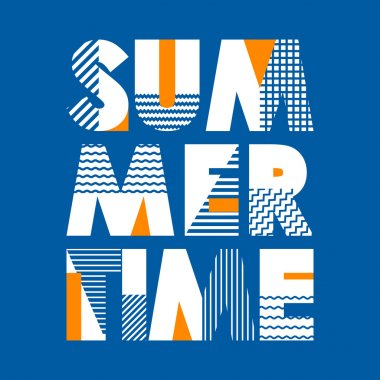 Summer Time T-shirt Typography Graphics, Vector Illustration stock vector