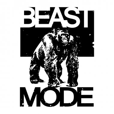 Beast Mode Big Gorilla Monkey T-shirt Design, Vector Illustratio