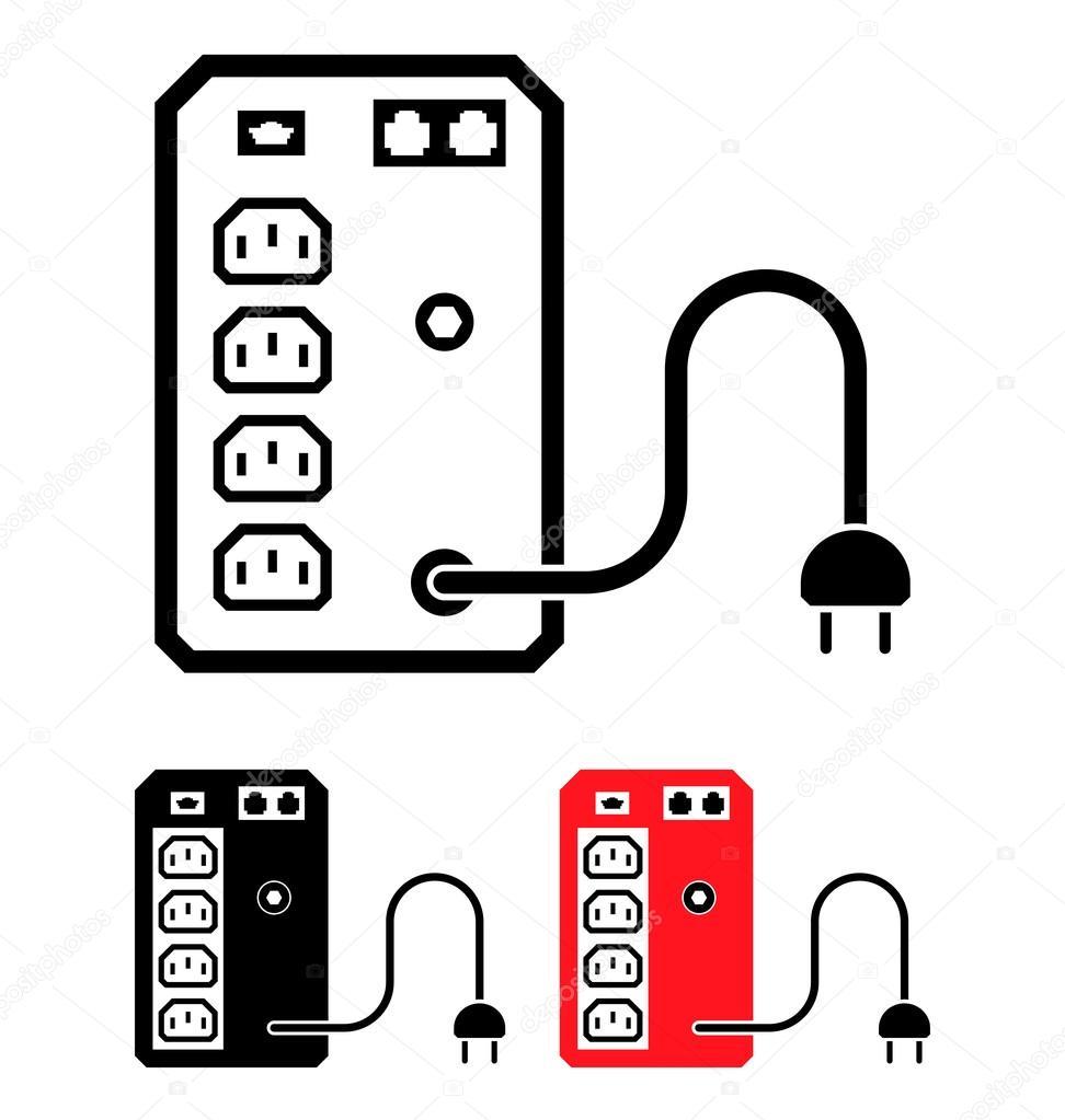 USV unterbrechungsfreie Stromversorgung Symbol, Vektor-Illustration ...