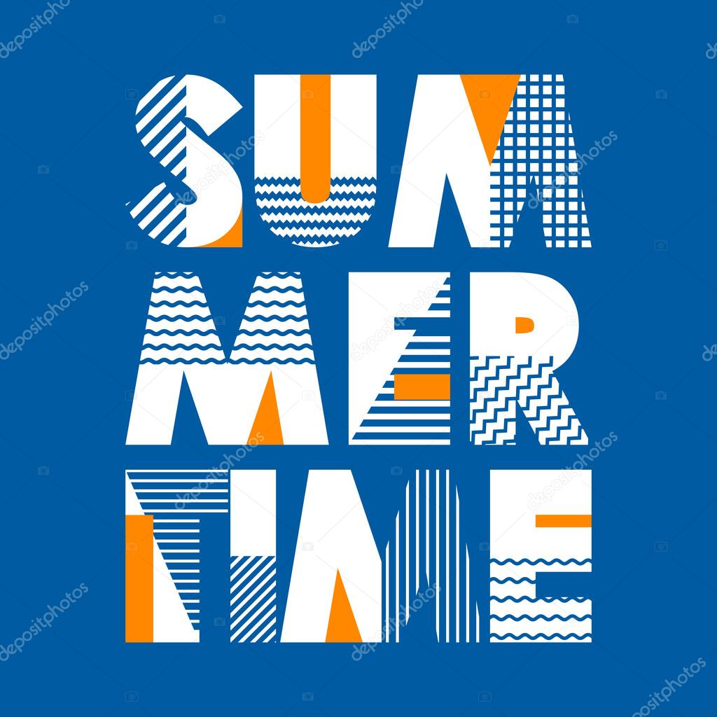 Summer Time T-shirt Typography, Vector Illustration