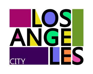 Los Angeles City, T-shirt Typography Graphics, Vector Illustration