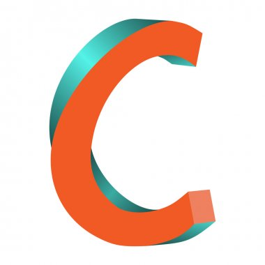 Twisted Letter C Logo Icon Design Template Element
