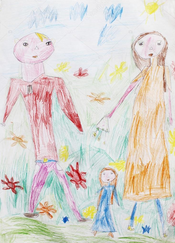 Detska Kresba Barvy Bile Knihy A Tuzky Ilustrace Stock Fotografie