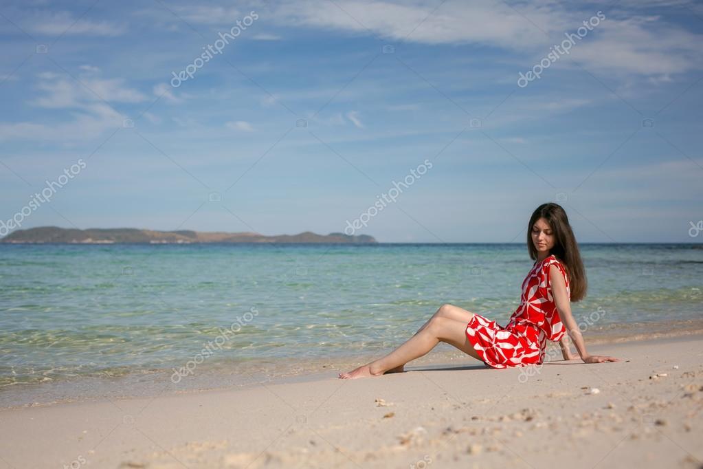 pretty woman near the sea