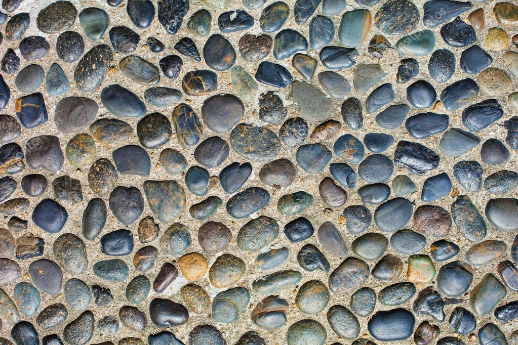 Color pebble stone floor texture u2014 Stock Photo ...