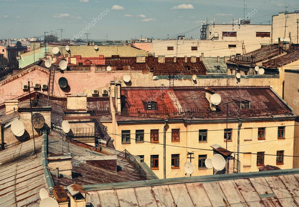 Skyline view on roofs