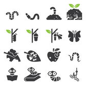 Worm icon set.vector eps10.