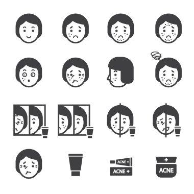 acne icon set.vector eps10.