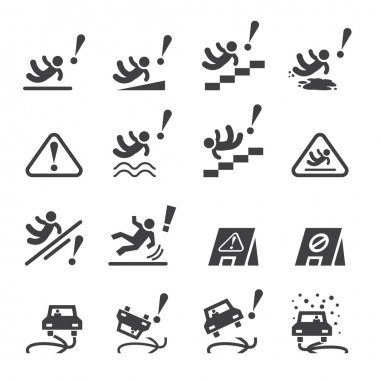 slippery icons set.vector eps10.