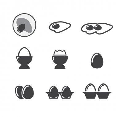 Egg icon set stock vector