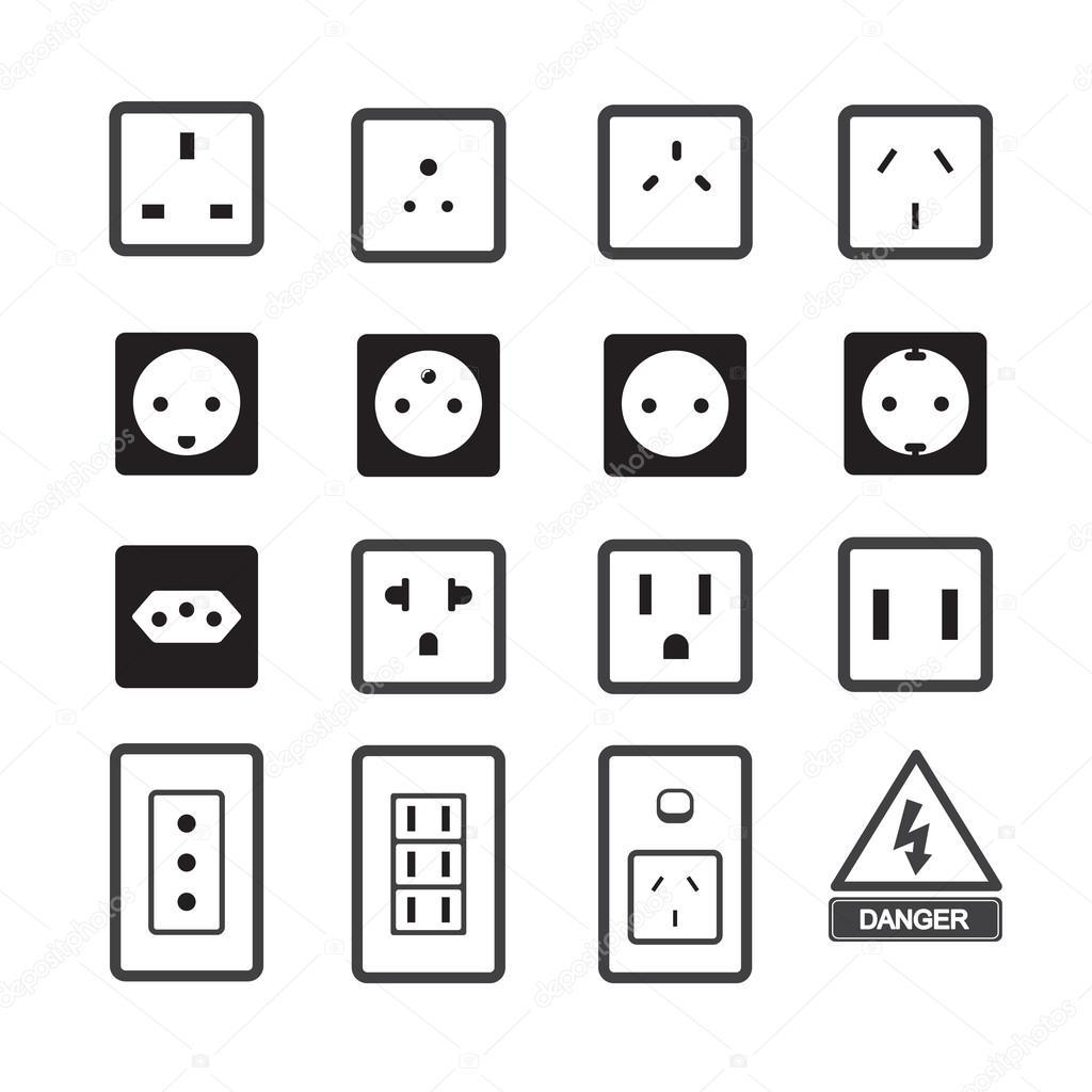 electric outlet and plug icon  u2014 stock vector  u00a9 jacartoon
