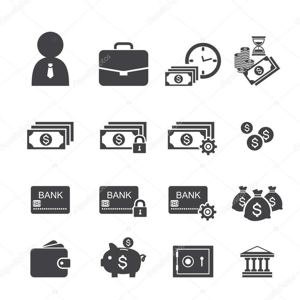 Finance Icon Set: Stock Vector © Jacartoon
