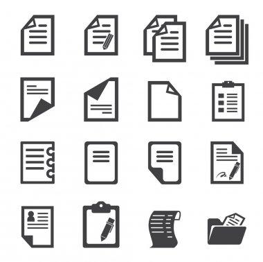 Paper icon clip art vector