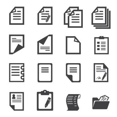 Paper icon stock vector