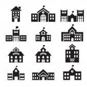 školní budova ikona