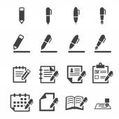 írás ikonra