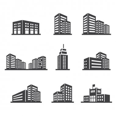Building icon stock vector