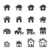 Photo house icon set