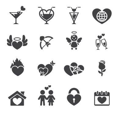 Love icon clip art vector
