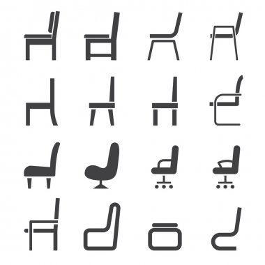 Chair icon stock vector