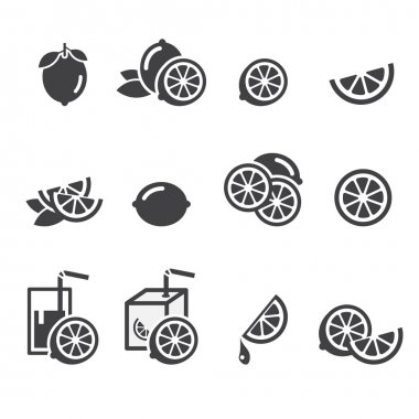 Lemon icon stock vector