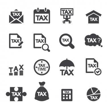 tax icon set