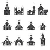 církevní stavba ikona