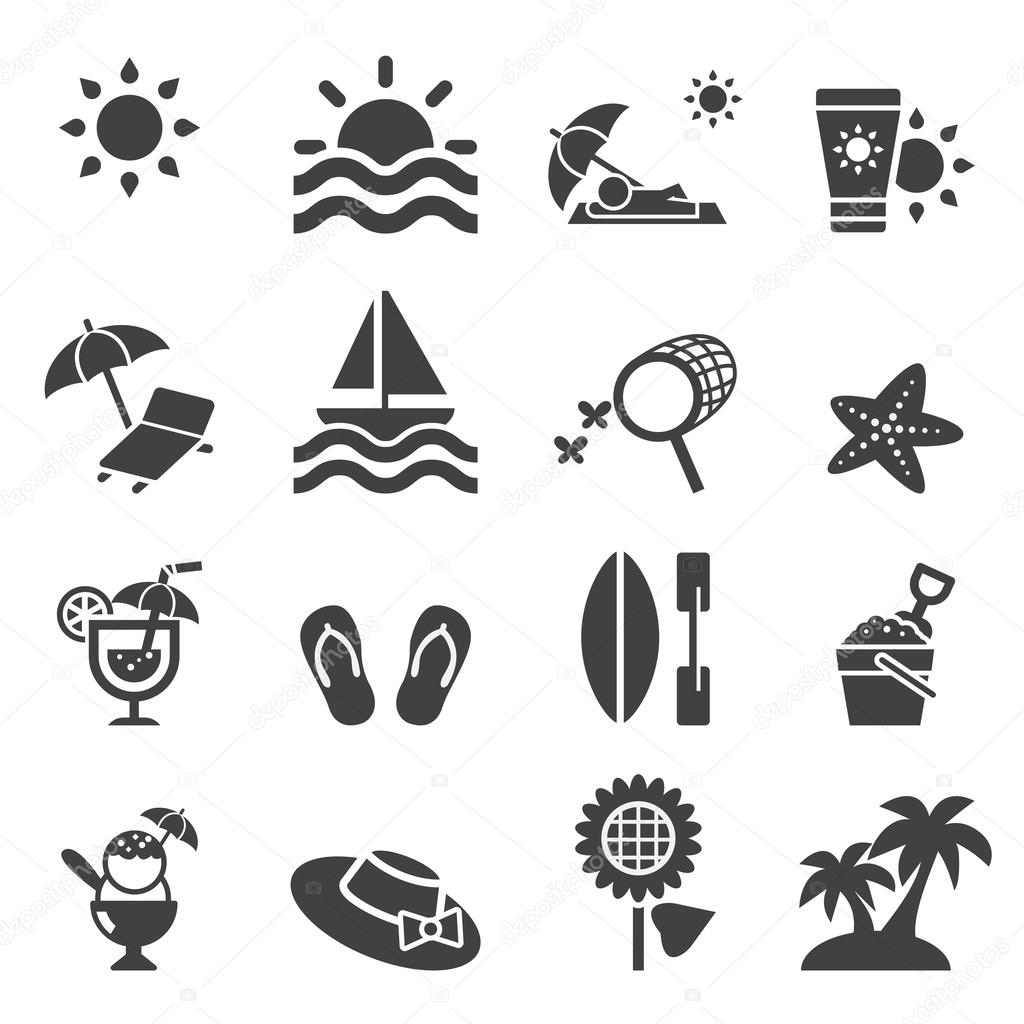 summer icon stock vector c jacartoon 66920875 https depositphotos com 66920875 stock illustration summer icon html