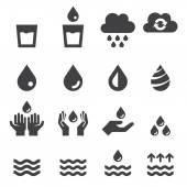 víz ikon készlet