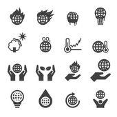 Fotografie globale Erwärmung-Symbole