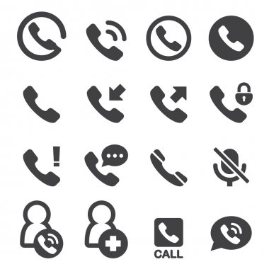 Phone and call icon stock vector
