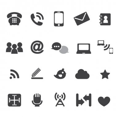 Web communication icons  internet vector set