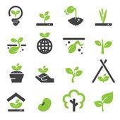 Photo sprout icon set