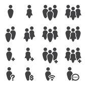 emberek ikon készlet
